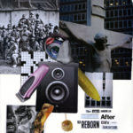 """The agony of American justice after the reborn CIA's artless transgressions""  Collage 17 x 14 inches 2012"