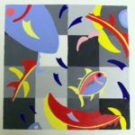 Bronwyn King - color logo project.  2-D Foundations  Acrylic 2014 12 x 12 inches