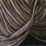 Vicky Canamaso-Uy - Drapery Study.  Drawing II.  Charcoal 2018 9 x 12 inches.