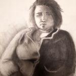 Becca Cencewizki - Figure Drawing.  Drawing I.  Charcoal 2016 24 x 18 inches.