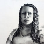 Cheyenne Reuter - Charcoal figure.  Drawing I  2015 18 x 24 inches