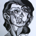 Danielle Reed - Charcoal abstract.  Drawing I  2014 24 x 18 inches