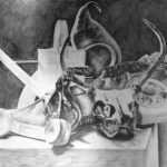 Dylan Parks - Graphite still life.  Drawing I  2015 18 x 24 inches