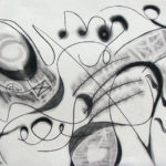 Michael Coppock - Charcoal abstract.  Drawing I  2014 18 x 24 inches