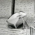 Sue Hossack - Pen & ink boat.  Community art class  2012 11 x 14 inches