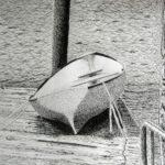 Sue Hossack - Pen & ink boat.  Community art class  2012 11 x 14 inches