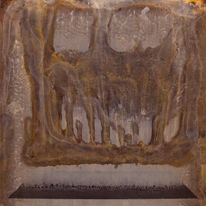 Eidolon - acrylic, 48 x 48 inches.  2011.