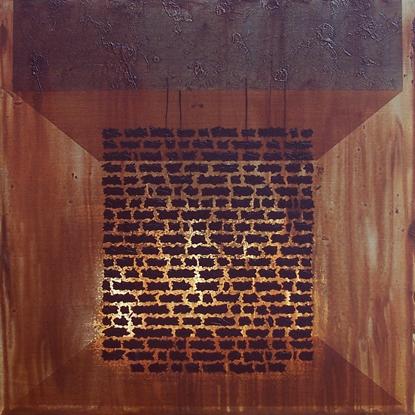 Reclamation III - acrylic, 36 x 36 inches.  2010.